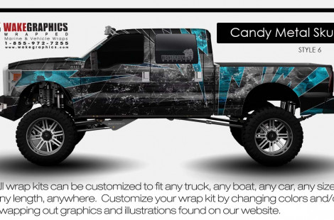 candy metal skull   style 6   truck wraps