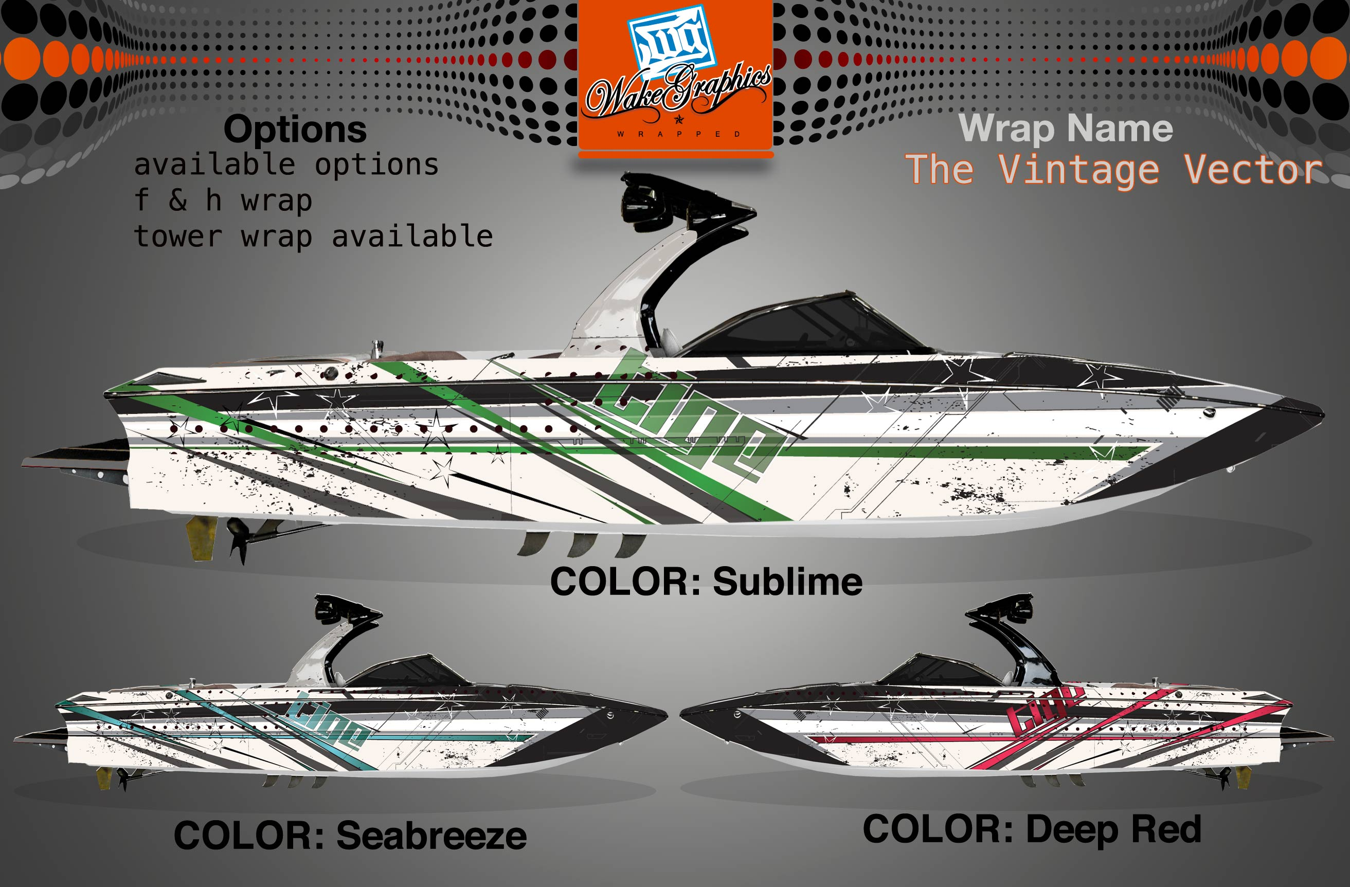 Boat Wraps The Vintage Vector Wake Graphics